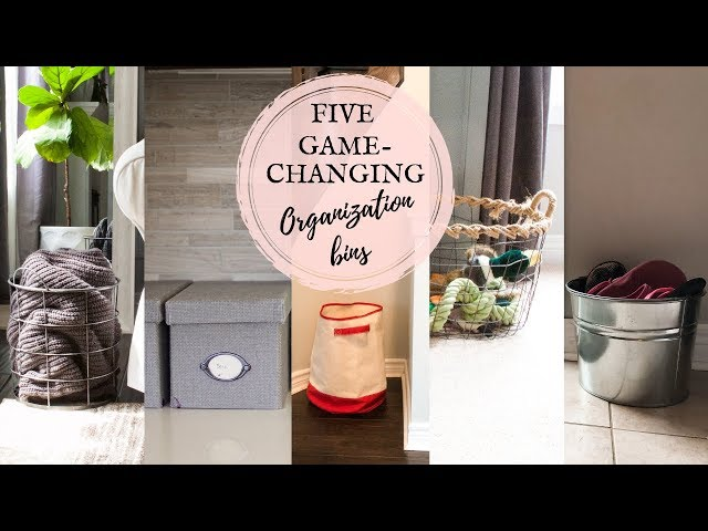 5 ORGANIZATION BINS YOUR HOUSE NEEDS | SHOES, CLUTTER, DOG TOYS, BLANKETS ORGANIZATION