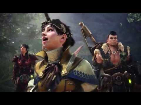 Monster Hunter World Game Movie - All Cutscenes Gallery: Japanese dub, female hunter, Cutscenes only