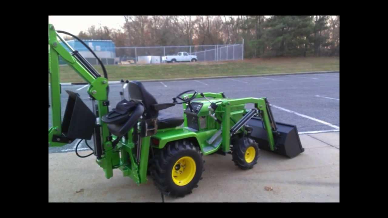 John Deere 322 Custom Front End Loader Backhoe Build YouTube – Backhoe Plans For Garden Tractor