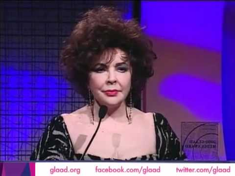 Elizabeth Taylor at the GLAAD Media Awards