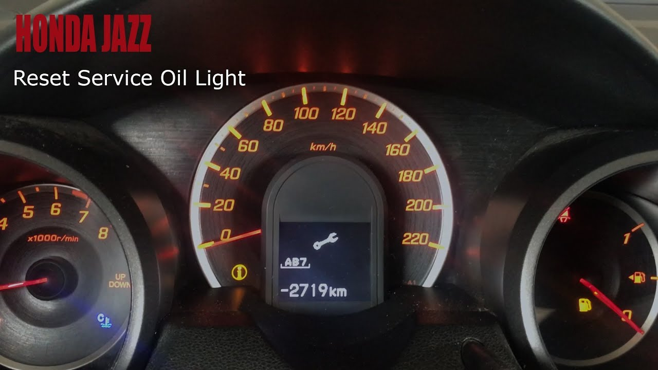 Honda Jazz Reset Service Light Youtube