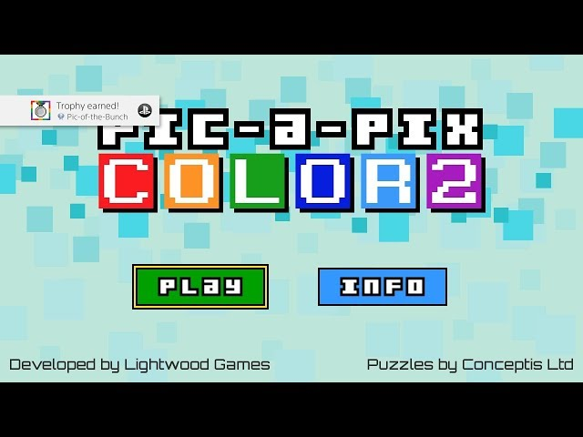 Pix-a-Pix Color 2 (PS4/PSVITA/PSTV) Platinum Trophy Guide/ALL Solutions (1-150)