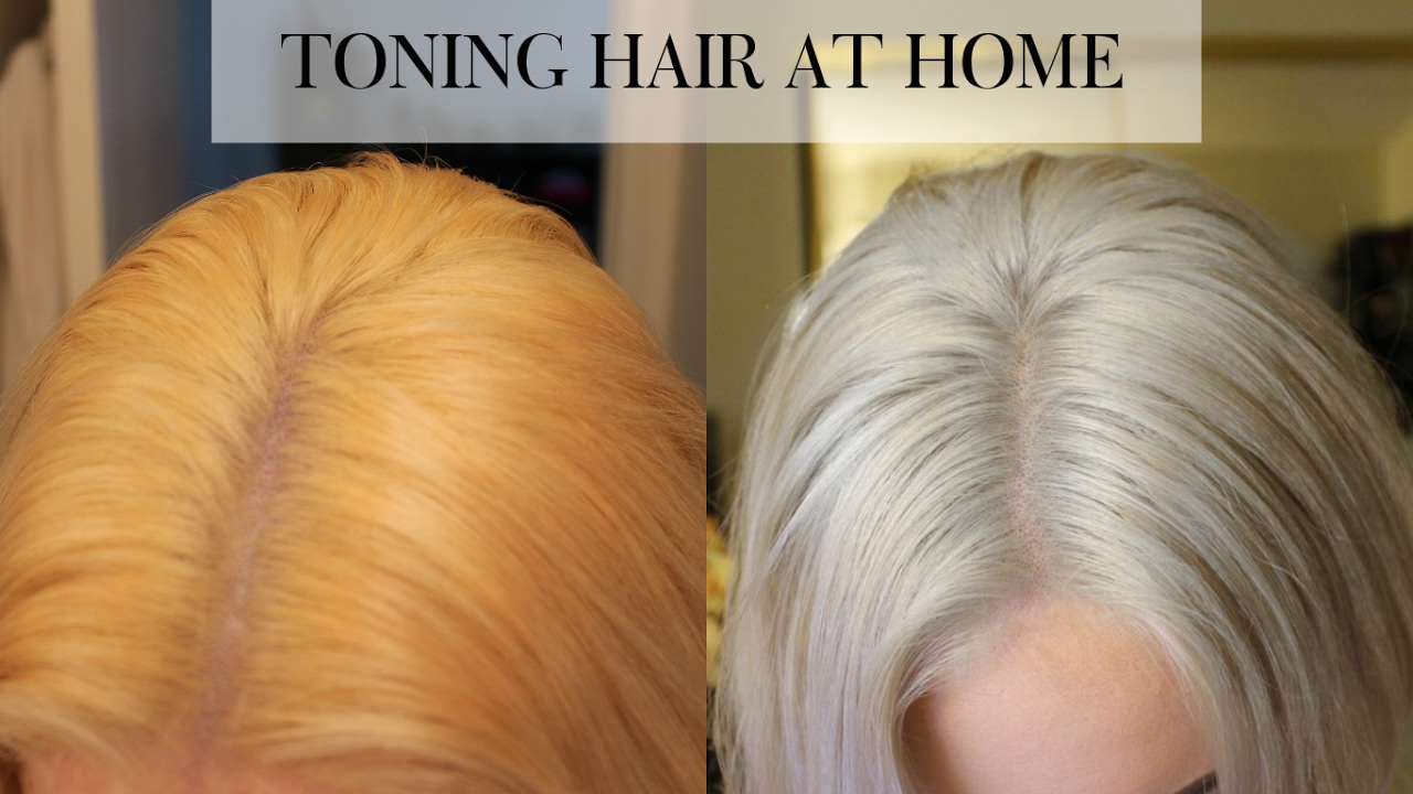 Toning Bleached Hair At Home Wella T18 Youtube