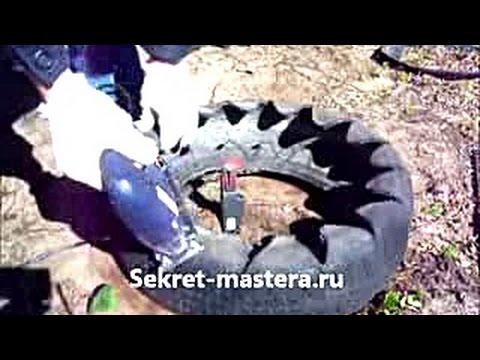 Как сделать клумбу из старой шины своими руками / Клумбы из покрышек Sekretmastera