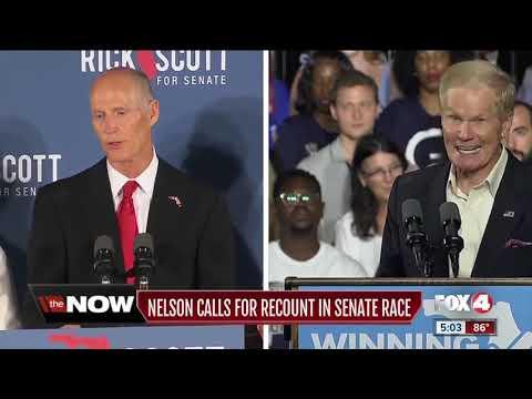 Florida Democrat Bill Nelson calls for recount in Senate race