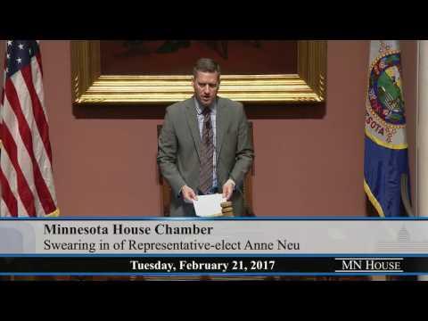 Swearing-in of Representative-elect Anne Neu  2/21/17