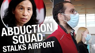 Confronting Trudeau's COVID quarantine agents in the Calgary airport