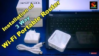 How to Connect & Configure a Wireless Router : TP-LINK TL-MR3020 & ALL : Wifi