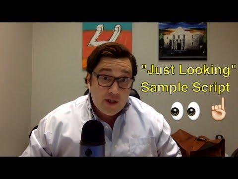"REALTOR Scripts: ""Just Looking"" Home Buyer Internet Lead"