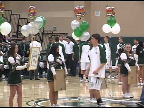 Murrieta Mesa High School Boys Basketball Senior Night