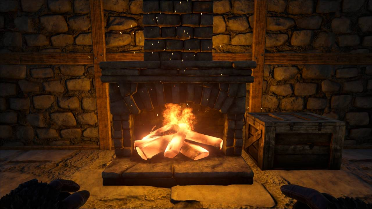 ARK Survival Evolved - A Boring Fireplace - YouTube