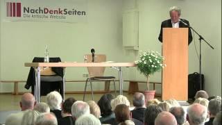 24. Pleisweiler Gespräch - Vortrag von Dr. Werner Rügemer