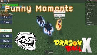 Roblox Dragon Ball X | Funny Moments