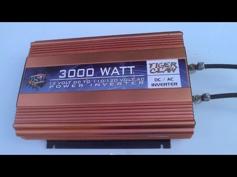 3000 watt OSP Tiger Claw inverter runs a twin tank Dewalt compressor