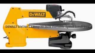 Dewalt Dw788 1.3 Amp 20-inch Variable-speed Scroll Saw Review Spec