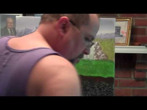 """Weekend Retreat"" Acrylic landscape speed painting"