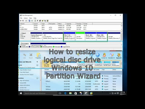 How to resize logical disc drives Windows 10 Partition Wizard