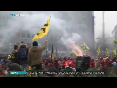 Far-right Protest Against Immigration Pact In Belgium