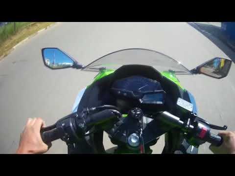 Dando uma volta de Ninja 300- PRIMEIRO VIDEO DO CANAL