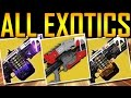 Destiny - HOW TO GET ALL DAWNING EXOTICS!