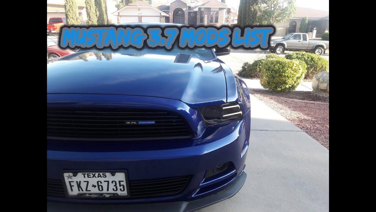 2014 Mustang V6 3 7 Mods Update Walkthrough Cosmetic Performance