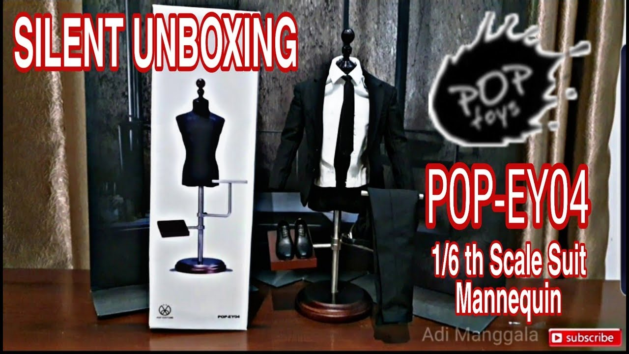 """POPTOYS EY04 1//6 Scale Display Stand Wood Alloy For 12/"""" Figure Clothing Suit"""