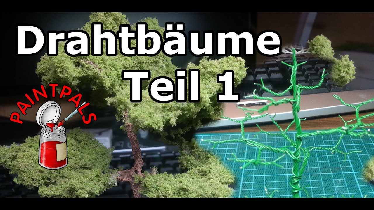 Drahtbäume selbstgemacht - Teil 1 - YouTube
