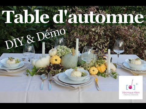 D co table d 39 automne tendre nature youtube - Deco de table automne ...