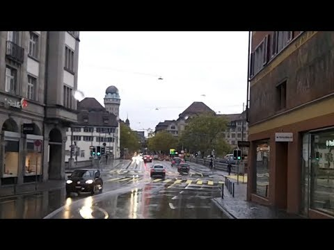 Driving from Zurich, Switzerland to the Airport (Oct 27, 2018)