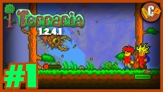 Terraria 1.2.4.1 Gameplay Walkthrough - Part 1 (PC Gameplay HD)
