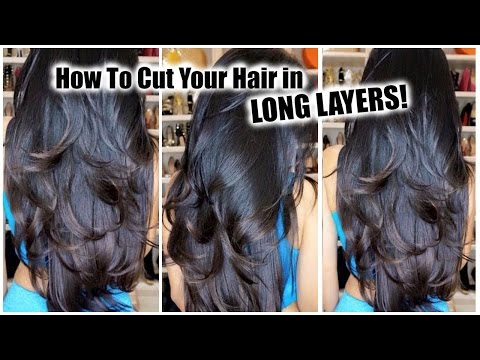 How to Cut Your Own Hair in Layers at Home