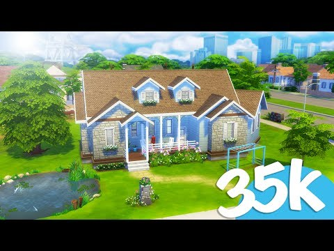 Sims 4 Speed Build | 35k Ranch House | Affordable Homes