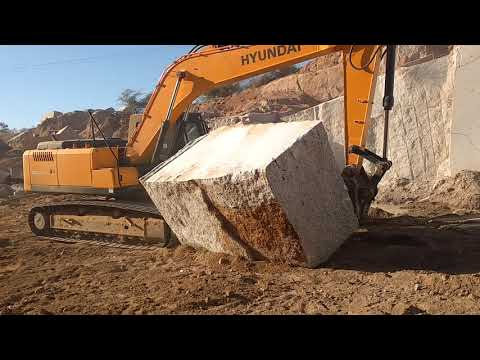 Granite Block Carry By Excavator | BM Discovery Mines