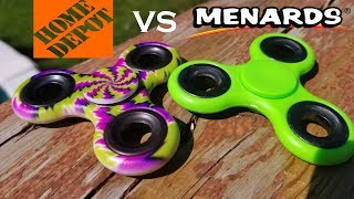 Home Depot VS Menards Fidget Spinner Unboxing, Review, and Durability Test.