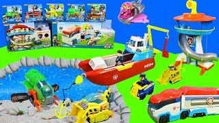 Paw Patrol: Die Tiefsee | Wasserfahrzeuge, Bagger & Spielzeug Feuerwehrautos Unboxing für Kinder