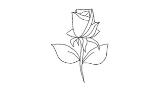 How to draw a rose - Easy step-by-step drawing lessons for kids