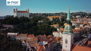 Bratislava, die slowakische Hauptstadt an der Donau - e-hoi