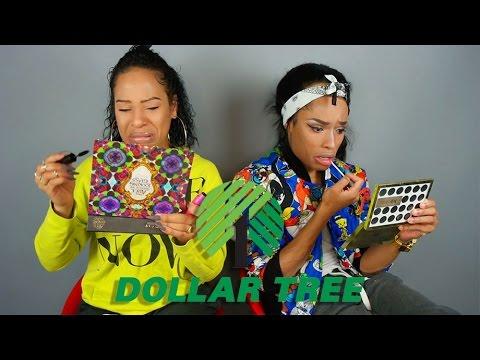 Dollar Tree Make-Up Challenge Feat. @MakeWithGoldie #AVADIM