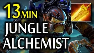 13 Min Radiance + Gold Bonus Tactical Alchemist Jungle Radiant Dota 2