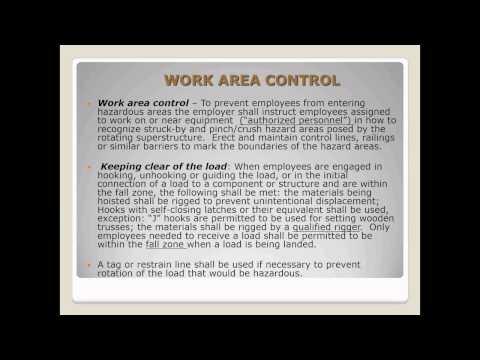 Crane Rigging & Signaling Safety Webinar