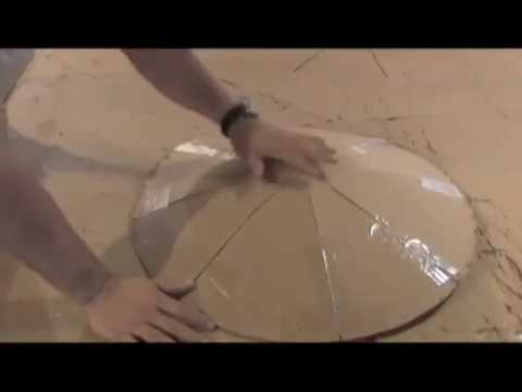 DIY SATELLITE DISH to Huge Parabolic Mirror Solar Cooker Reflective Film DIRECT TV SOLAR