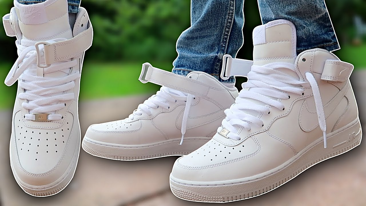 How To Lace Nike Air Force 1s | AF1 Mids (2 BEST WAYS!!)