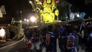 令和元年 三木市細川町豊地・三坂神社秋祭り 宵宮
