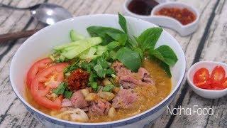Hủ tiếu sa tế, bí quyết nấu ngon như tiệm, cách làm sa tế vị Hoa thơm ngon || Natha Food