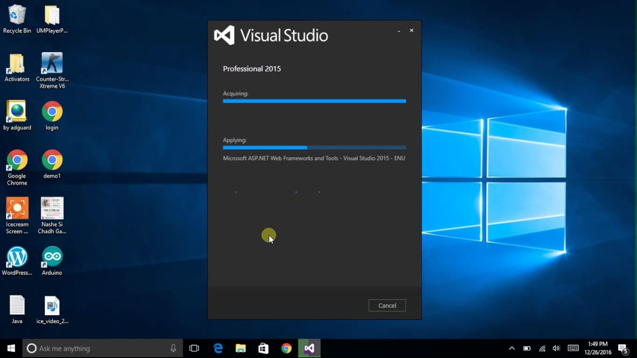 visual studio 2015 english download