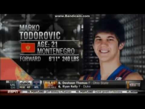 Marko Todorovic 2013 Nba draft highlights