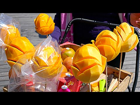 New York City Street Food - Mango Flower With Chili
