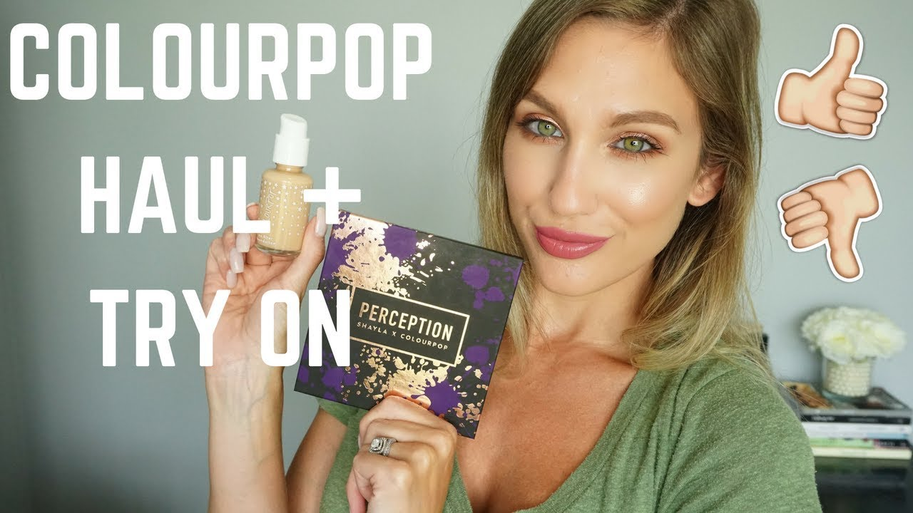 Colourpop Haul Try On No Filter Foundation Makeup Shayla