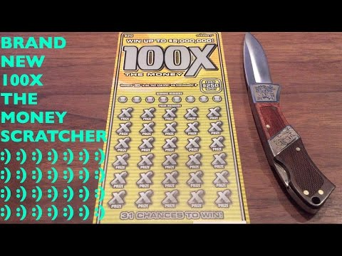BRAND NEW 100X THE MONEY SCRATCHER!! $20 California Lottery Scratcher
