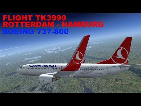 FSX:SE | LIVE STREAM | FLIGHT TK3990 | FLIGHT FLOG #44 | ROTTERDAM - HAMBURG | B738 | IVAO